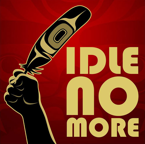 "Logo ~ ""Idle No More"""