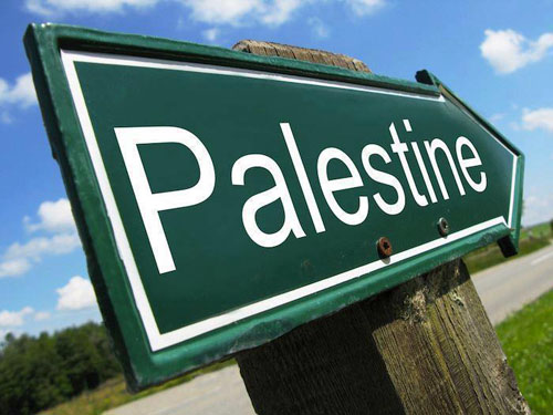 Sign post - the road to Palestine