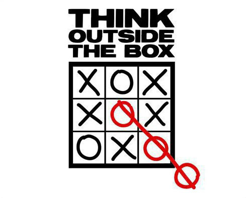Don't be afraid to think outside the box