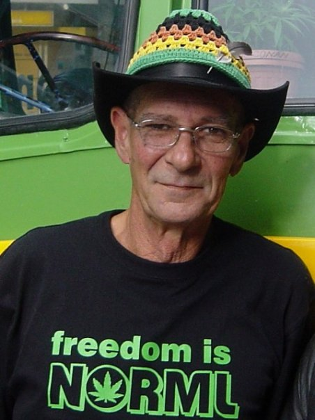 Image: Dakta Green, activist for cannabis law reform, New Zealand