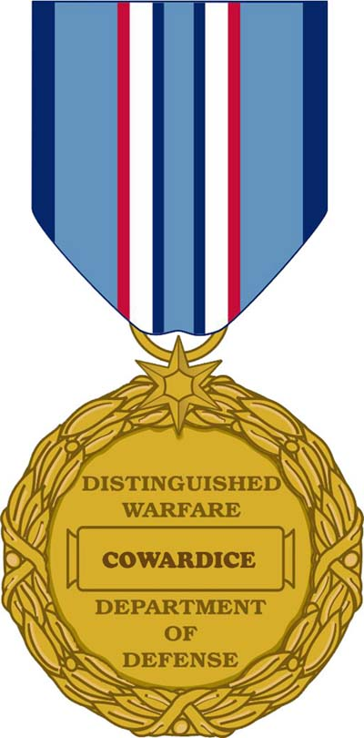 Image: American Distinguished Warfare Medal for Cowards