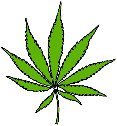 Image: Cannabis Leaf ~ happy 4.20