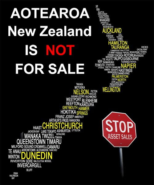 Image: Aotearoa - New Zealand is NOT for Sale