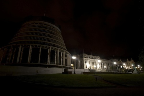 Image: the Beehive and NZ parliament