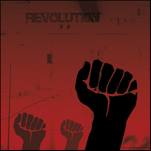 Image: Revolution poster (cropped) © Jeevay 2012