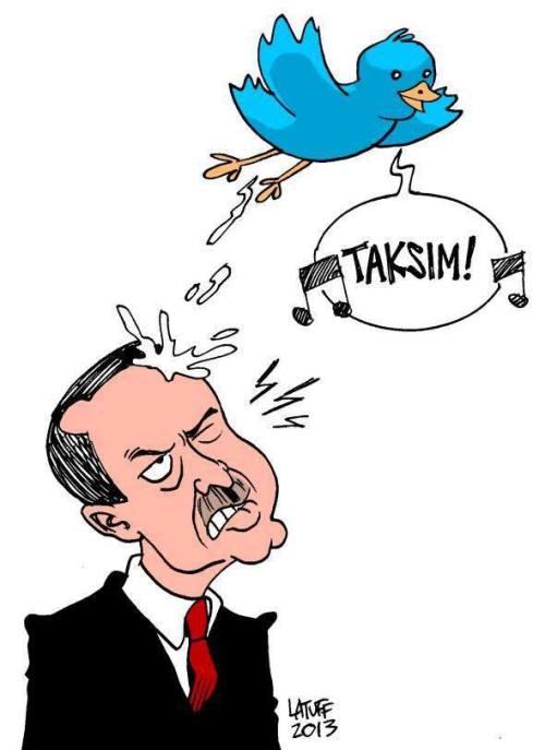"Image: ""Twittering Taksim"" ~ Latoff"