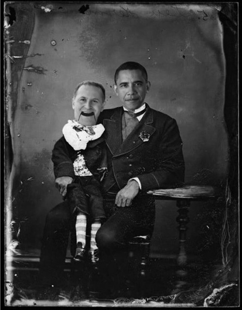 Image:  John Key - puppet of the US Government