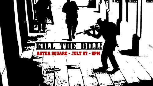 Image: POSTER ~ Nationwide protest to stop the GCSB Bill