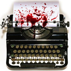 Image: New Zealand Democracy is under attack — bleeding typewriter
