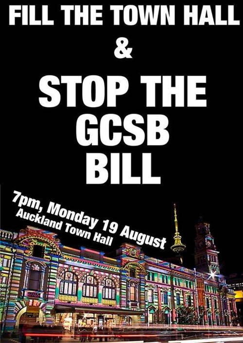Image: Public meeting ~ Stop the GCSB Bill